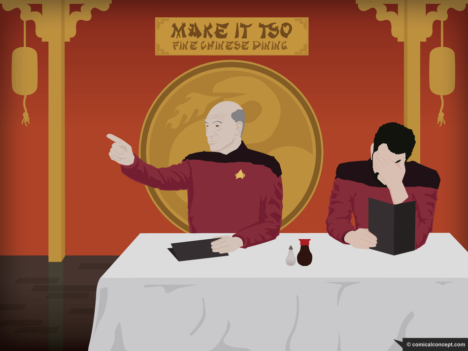 Captain Picard Ordering Chinese Food