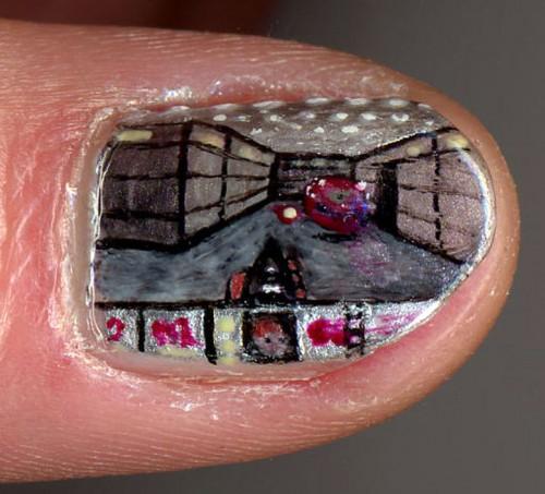 DOOM Fingernail Art