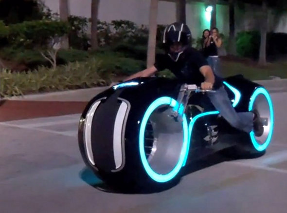 Electric TRON Light Bike