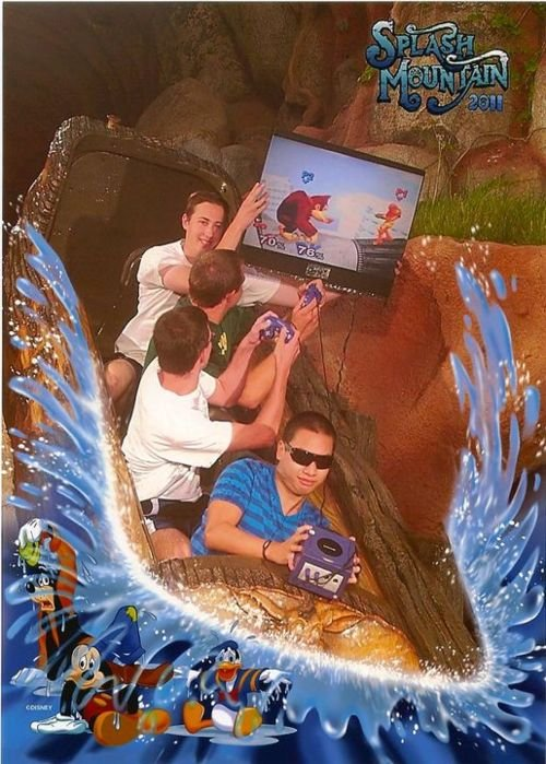 Gaming on Splash Mountain