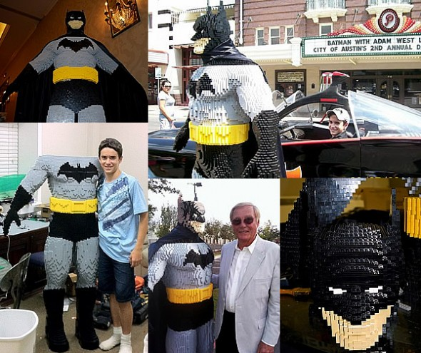 Life-Size LEGO Batman with Evan Bacon and Adam West