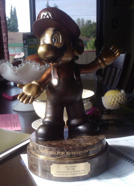 Nintendo 20 Year Bronze Mario Statue