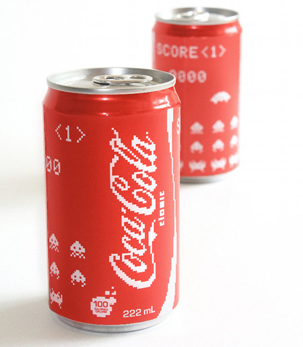 Space Invaders Coca-Cola Classic Cans