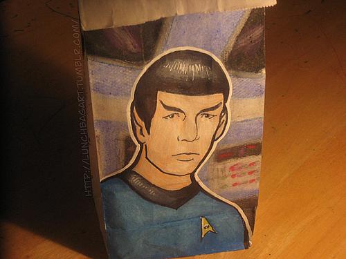 Star Trek The Animated Series Spock Lunch Bag Art