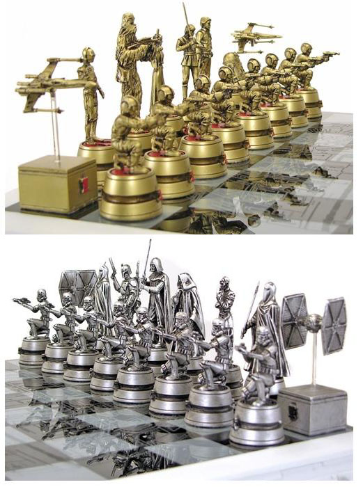 Star Wars Chess Set Close Up