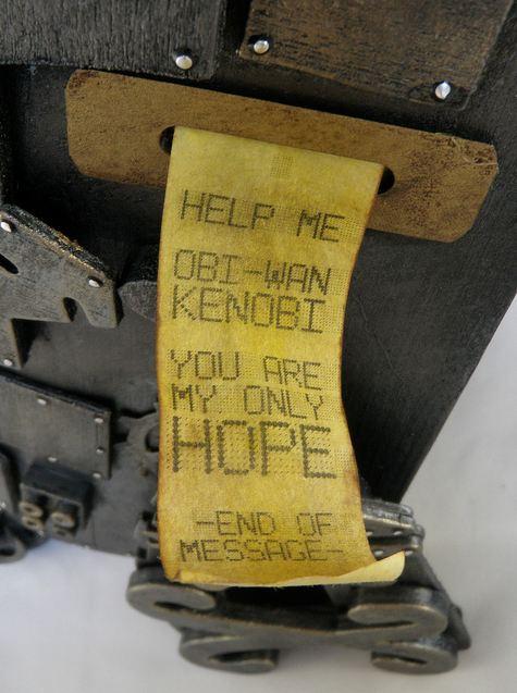 Steampunk R2-D2 Message