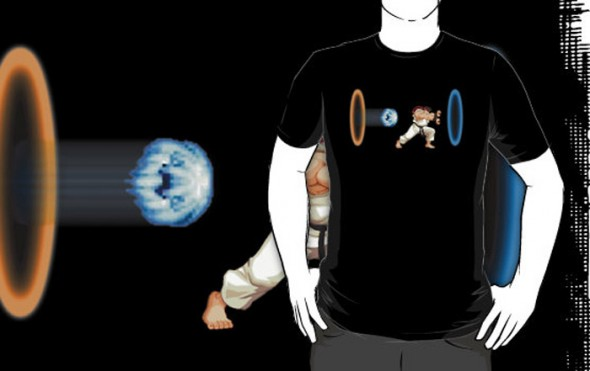 Street Fighter vs Portal T-Shirt