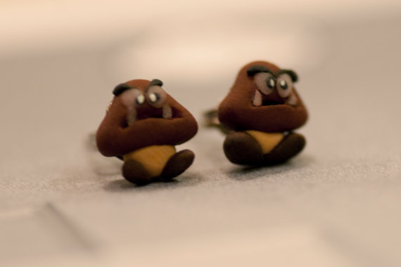 Super Mario Bros Goomba Earrings