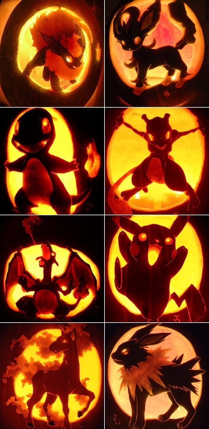 Amazing Pokemon Halloween Jack-O-Lanterns