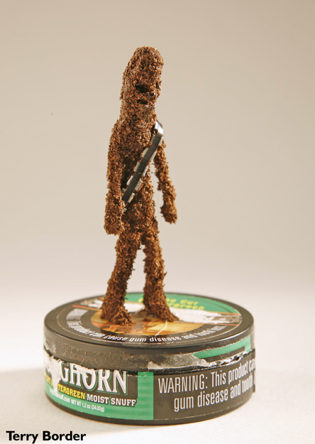 Chewbacca Made Out Of Tobacco By Terry Border