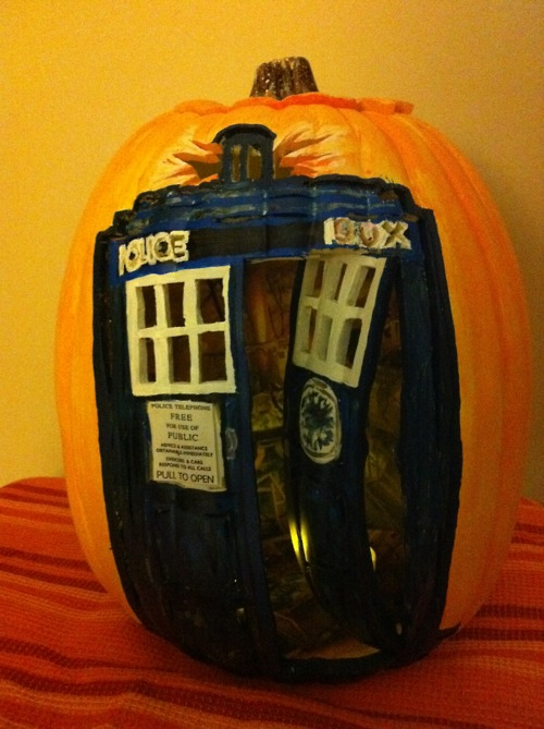 Doctor Who TARDIS Pumpkin