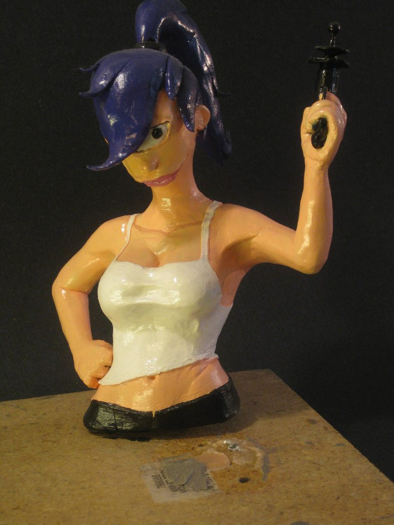 Futurama Leela Sculpture