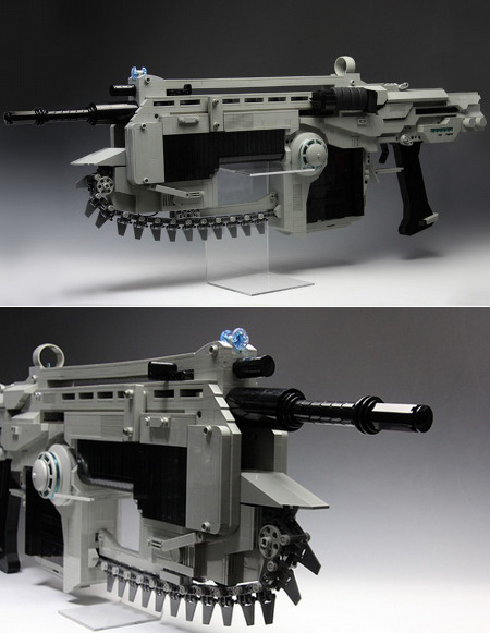 Gears of War LEGO Lancer Assault Rifle Rubber Band Gun