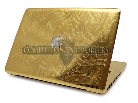 Gold and Diamond Apple MacBook Pro