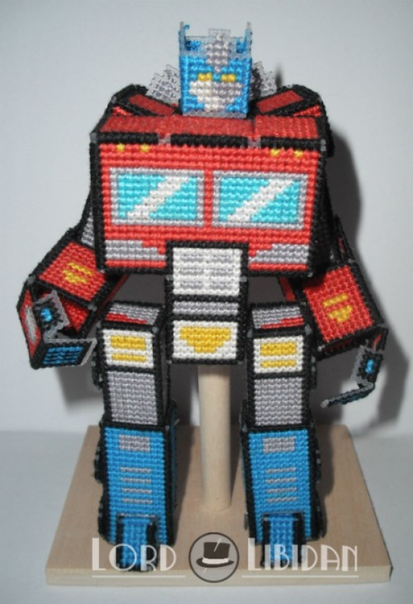 Plastic Canvas Transformer Optimus Prime