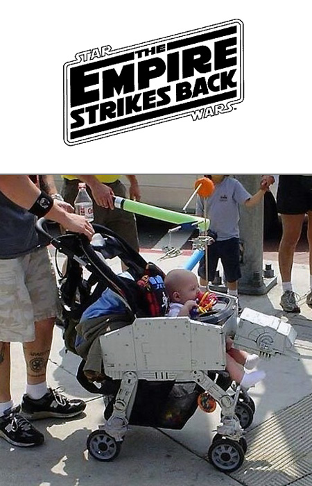 star wars at at baby stroller pic global geek news