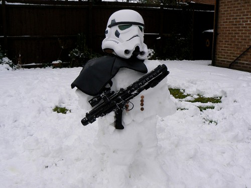 Star Wars Stormtrooper Snow Sculpture
