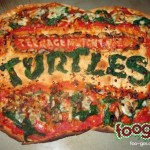 Teenage Mutant Ninja Turtle Logo Pizza [pic]