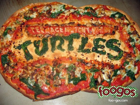 Teenage Mutant Ninja Turtles Logo Pizza