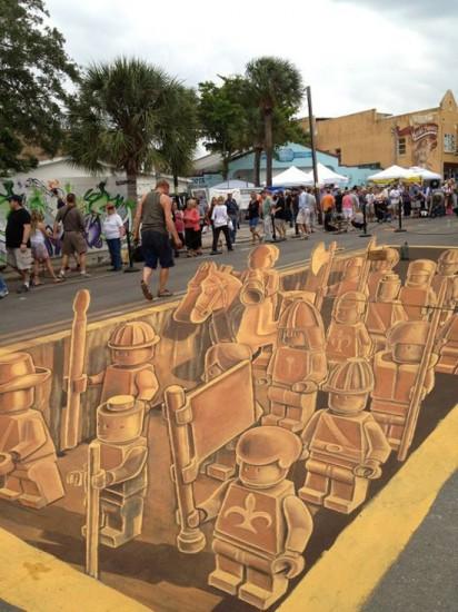 3D LEGO Terracotta Army Street Art