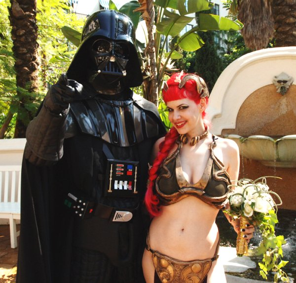Darth Vader and Slave Leia Get Married