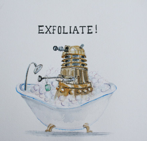 Doctor Who Dalek Exfoliate Bath Print