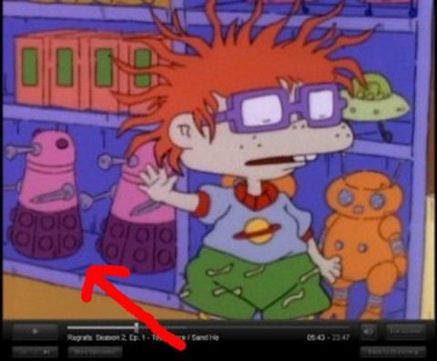 Doctor Who Daleks in Rugrats Cartoon