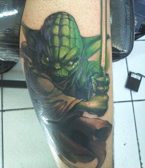 Jedi Master Yoda Tattoo
