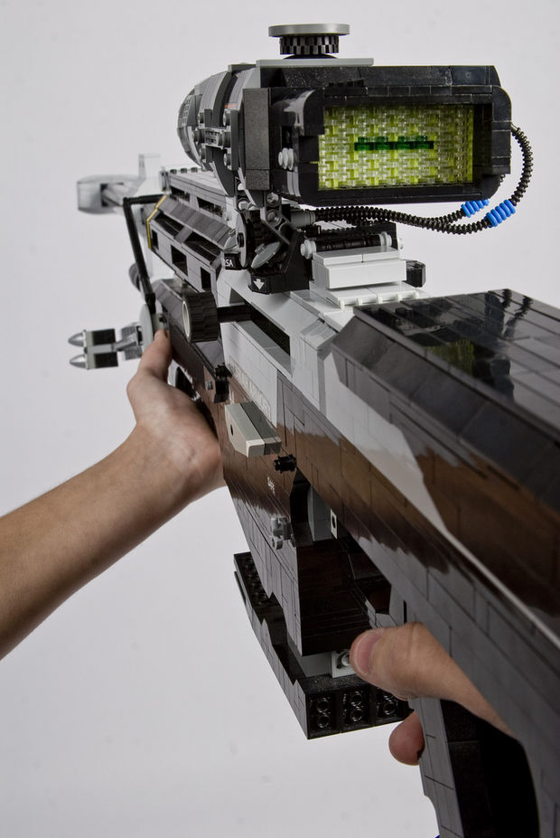 LEGO Halo Sniper Rifle From The Back