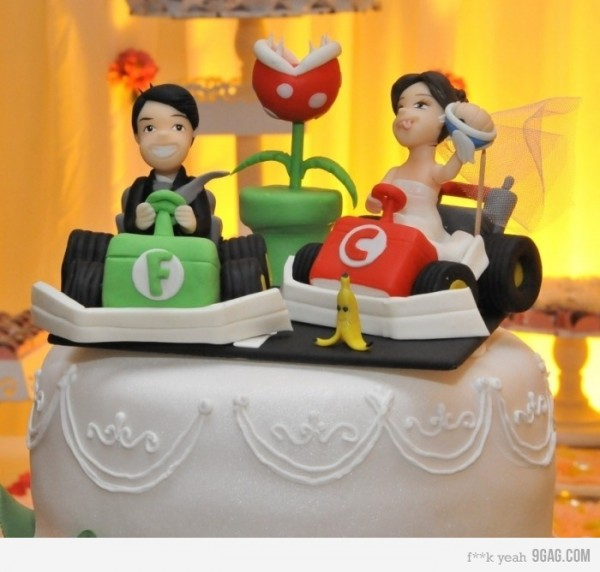 Mario Kart Wedding Cake Topper