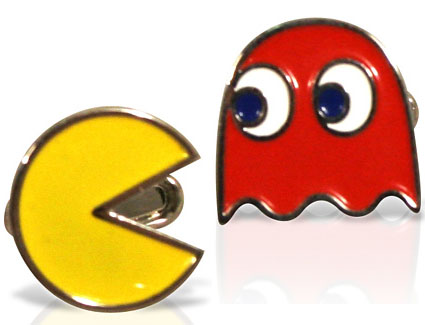 Pac-Man and Ghost Cufflinks