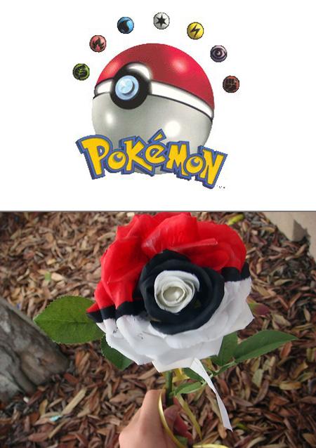 Pokemon Pokeball Rose