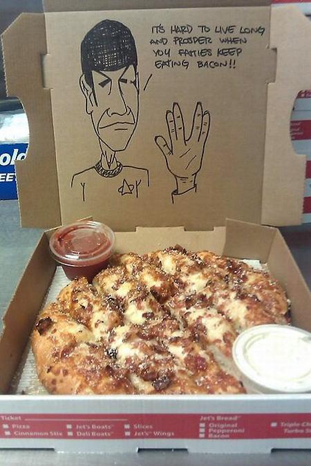 Star Trek Spock Pizza Box Art