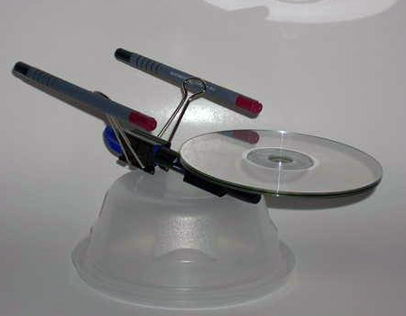 Star Trek Enterprise Made From Office Supplies