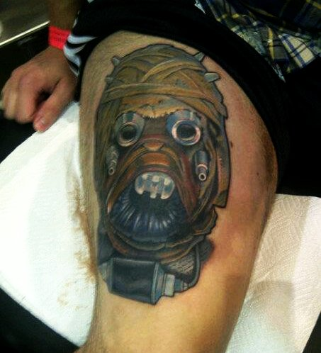 Star Wars Tusken Raider Leg Tattoo