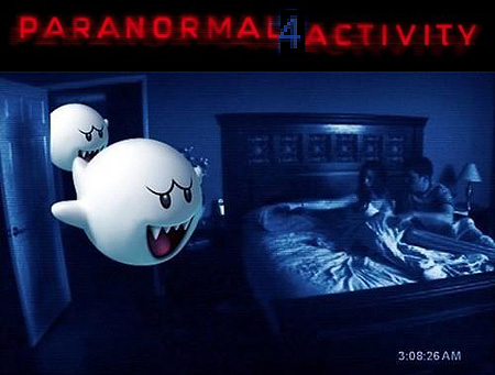 Super Mario Bros Boo in Paranormal Activity 4