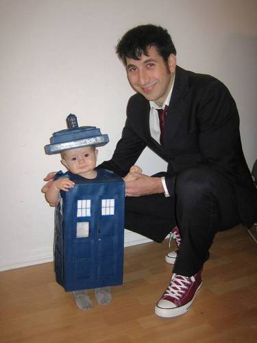 Baby in a TARDIS Suit
