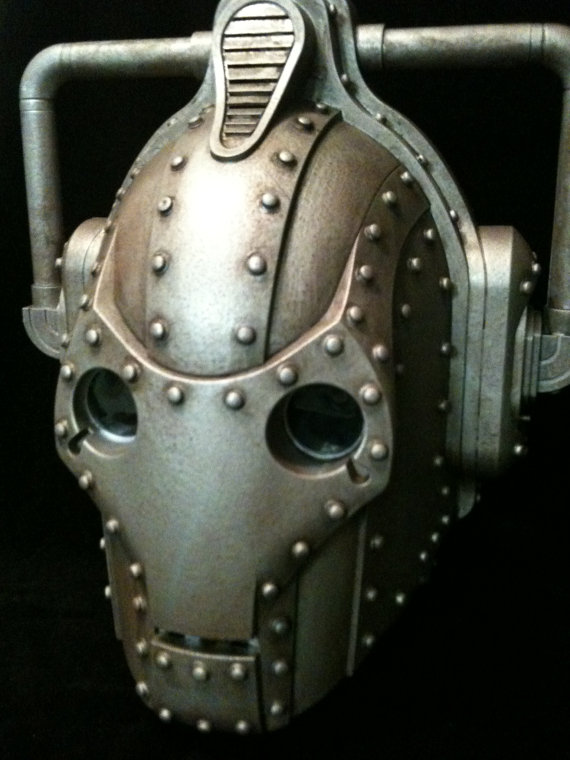 Doctor Who Steampunk Cyberman Wearable Helmet