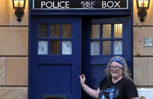 Doctor Who TARDIS House Front Door