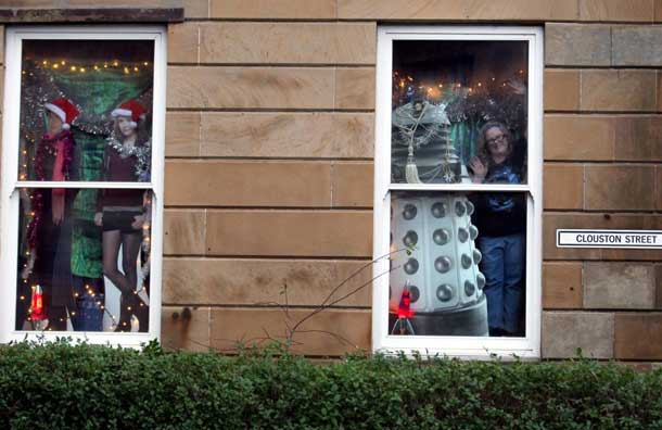 Doctor Who TARDIS House Windows