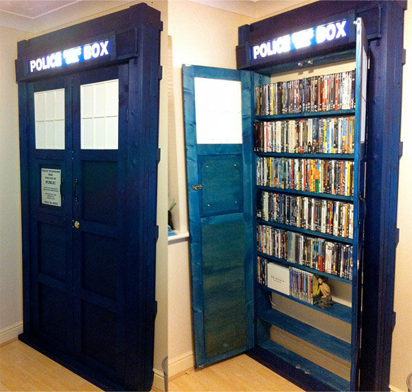 Doctor Who TARDIS Movie Cabinet