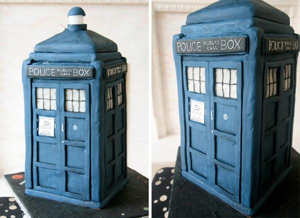 Doctor Who TARDIS Wedding Cake