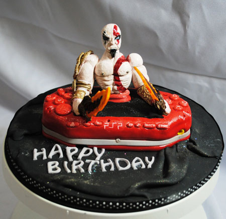 God of War PSP Birthday Cake