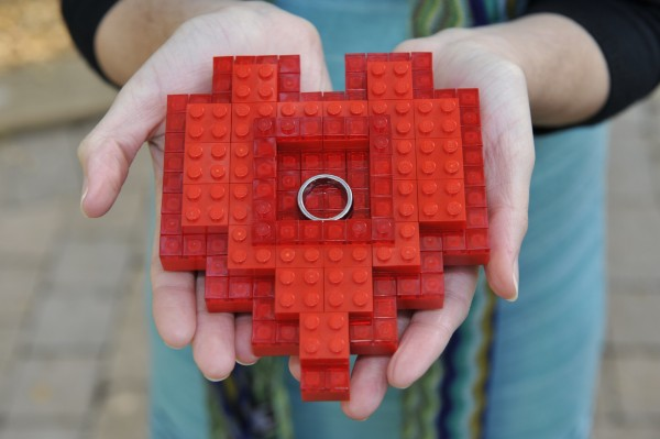LEGO Heart Ring Container