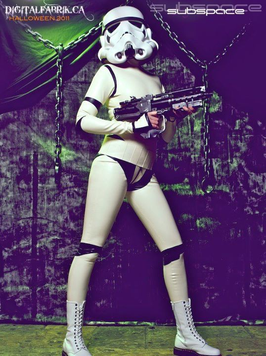 Sexy Latex Stormtrooper Suit