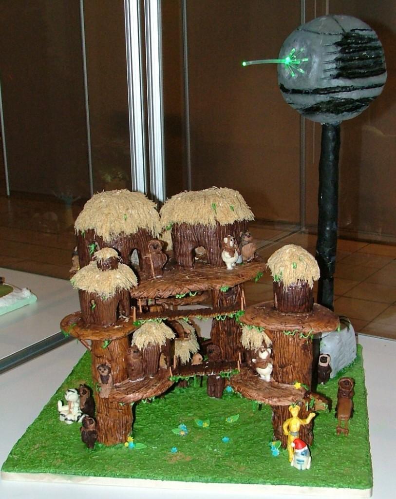 Star Wars Gingerbread Ewok Village and Death Star