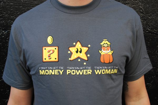 Super Mario Bros Money Power Woman T-shirt