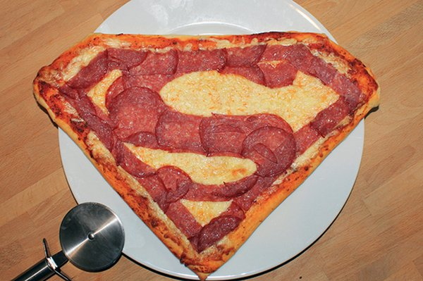 Superman Logo Pizza