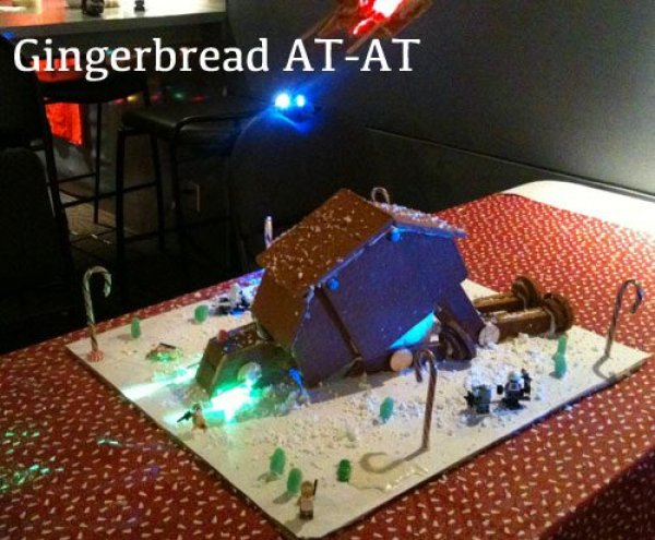 Tripped Gingerbread AT-AT