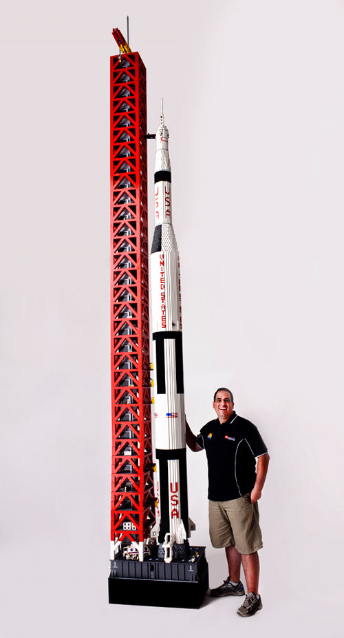 19-Foot LEGO NASA Saturn V Rocket